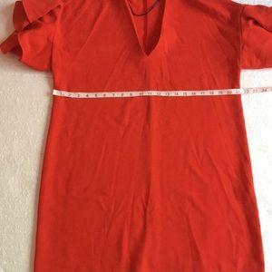 Zara Dresses - Zara woman Red Frilled Sleeve Mini Dress